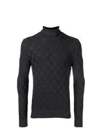 La Fileria For D'aniello Checkered Pattern Sweater
