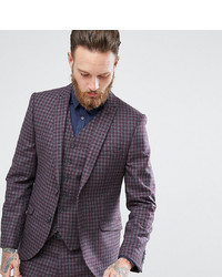 Heart & Dagger Slim Suit Jacket In Check Tweed