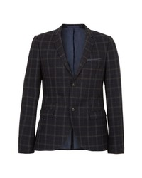 Charcoal Check Wool Blazer