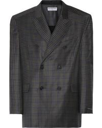 Charcoal Check Wool Blazer
