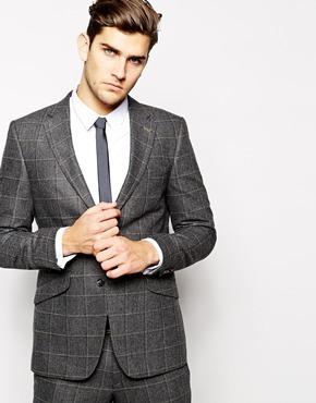 Peter Werth Italian Wool Large Check Suit Jacket In Slim Fit ...