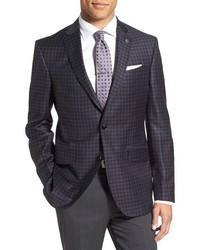 Ted Baker London Jones Trim Fit Check Wool Sport Coat
