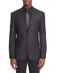 John Varvatos Star Usa Trim Fit Check Wool Sport Coat