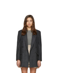 Isabel Marant Etoile Grey Wool Eagan Double Breasted Blazer