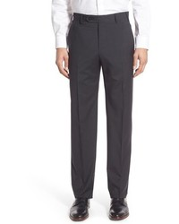 Charcoal Check Wool Dress Pants