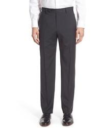Zanella Devon Classic Fit Check Wool Trousers