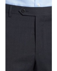 Zanella Devon Flat Front Check Wool Trousers