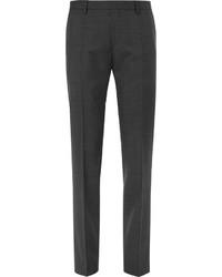 Hugo Boss Grey Genesis Slim Fit Prince Of Wales Checked Virgin Wool Trousers