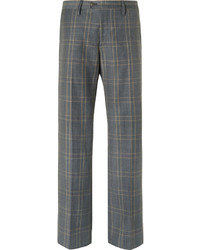 Stella McCartney Grey Prince Of Wales Checked Wool Suit Trousers