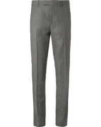 Paul Smith Grey Soho Slim Fit Prince Of Wales Checked Wool Suit Trousers