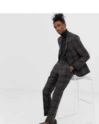 Heart & Dagger Slim Fit Wool Mix Suit Trousers In Charcoal