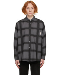 Marni Grey Wool Check Shirt