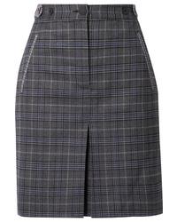 Rag & Bone Meki Checked Wool Blend Mini Skirt