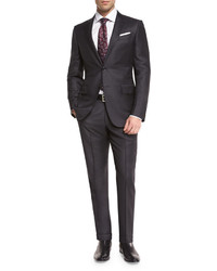 Charcoal Check Wool Suit