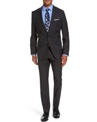 Hugo Boss Hugegenius Trim Fit Check Wool Suit