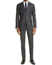 Giorgio Armani Check Virgin Wool Suit