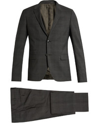 Valentino Checked Notch Lapel Wool Suit