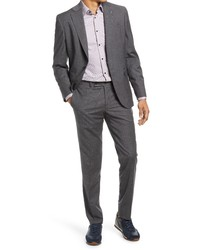 Ted Baker London Fit Stretch Windowpane Wool Suit