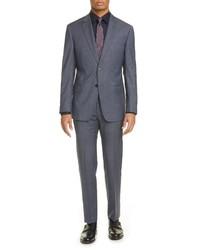 Emporio Armani G Fit Windowpane Wool Suit
