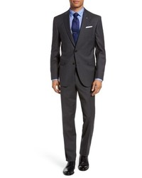Ted Baker London Jay Trim Fit Windowpane Wool Suit