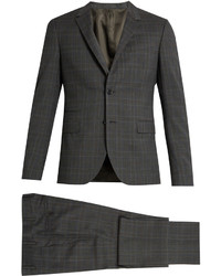 Valentino Prince Of Wales Checked Notch Lapel Wool Suit