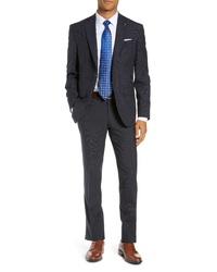 Ted Baker London Roger Slim Fit Windowpane Wool Suit