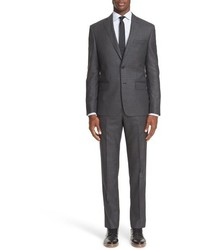 John Varvatos Star Usa Trim Fit Check Wool Suit