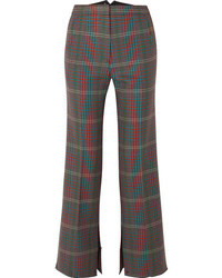 Golden Goose Deluxe Brand Rendena Checked Wool Wide Leg Pants