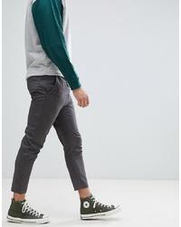 Jack & Jones Cropped Smart Slim Fit Trouser With Drawstring Waist