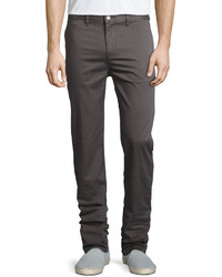 Wesc Eddy Chino Relaxed Pants Plum Gray