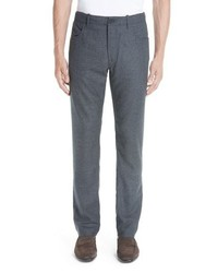 Canali Flannel Wool Five Pocket Trousers