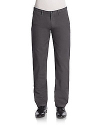 Saks Fifth Avenue Flat Front Cotton Chino Pants