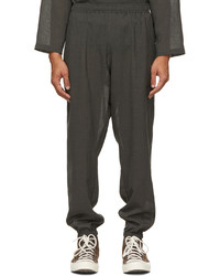 The Conspires Grey Boyled Rl Trousers