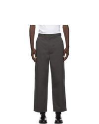 Comme des Garcons Homme Grey Cotton Weather Trousers