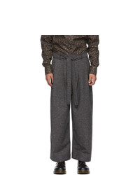 Naked and Famous Denim Grey Jazz Nep Trousers