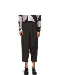132 5. ISSEY MIYAKE Grey Seamless Bottom Basic Trousers