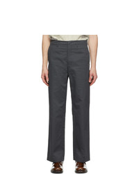 Lemaire Grey Straight Leg Chino Trousers