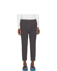 Homme Plissé Issey Miyake Grey Tapered Cropped Trousers