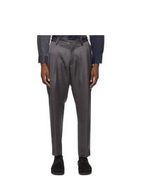 4SDESIGNS Grey Triple Pleat Trousers