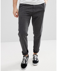 Esprit Loose Fit Smart Trousers In Brushed Cotton