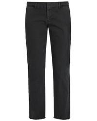 Nili Lotan East Hampton Mid Rise Cotton Blend Chino Trousers