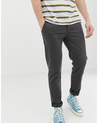 Pier One Slim Fit Chino In Grey