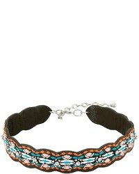Rebecca Minkoff Stitched Guitar Strap Choker Necklace