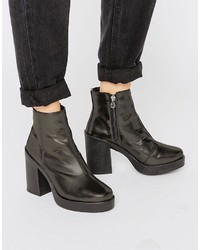 Asos Ecru Chunky Ankle Boots