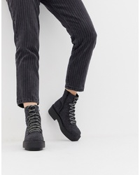 ASOS DESIGN Avril Square Toe Chunky Hiker Boots