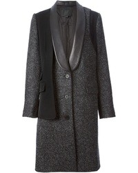 Alexander Wang Leather Trimmed Coat