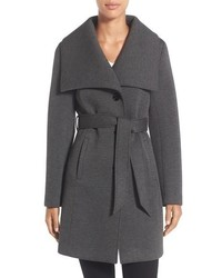 Laundry by Design Belted Neoprene Wing Collar Coat
