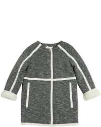 Chloé Cotton Jersey Faux Shearling Coat