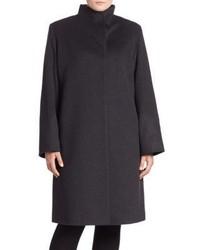 Cinzia Rocca Plus Size Funnelneck Coat