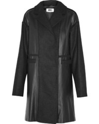MM6 MAISON MARGIELA Coated Cotton And Wool Blend Coat